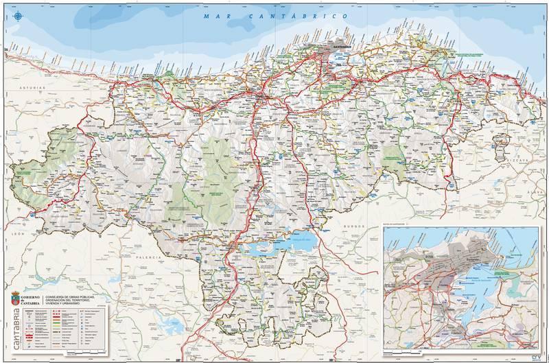 Mapa De Cantabria Vamos A Cantabria