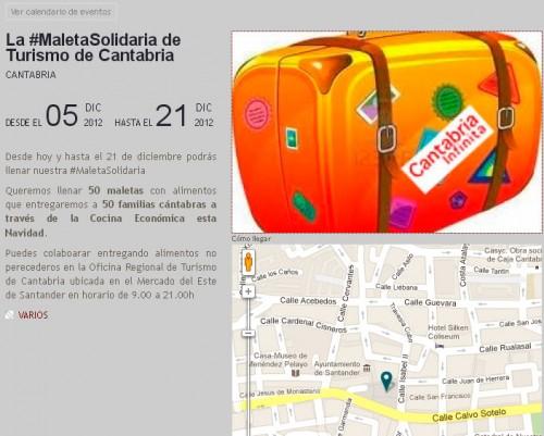 Participa en la maleta solidaria vamos a cantabria - Cocina economica santander ...