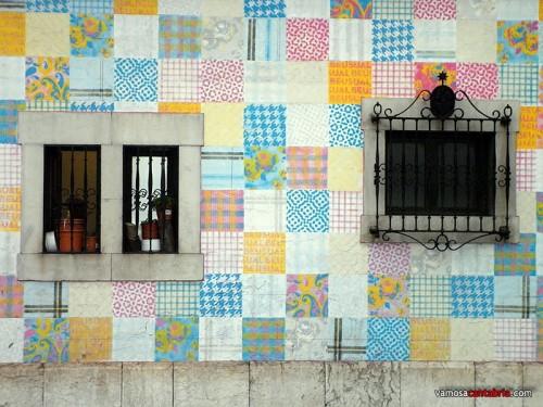 Mosaico en la pared