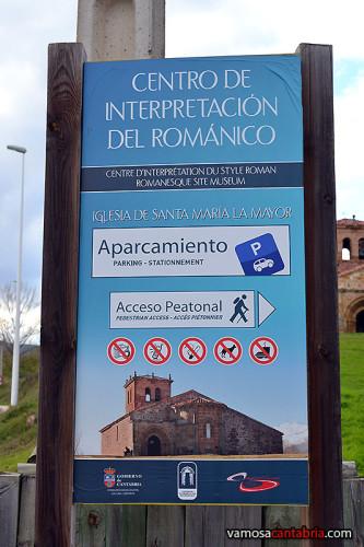 Cartel del centro de interpretación del románico