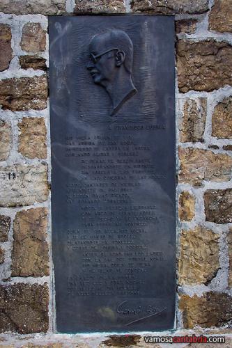 Placa en el mirador de Covalruyo II
