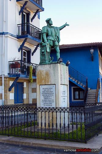Otra estatua de Elcano en Guetaria II