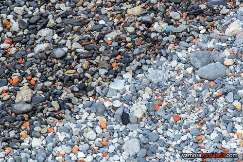 Piedras en vez de arena