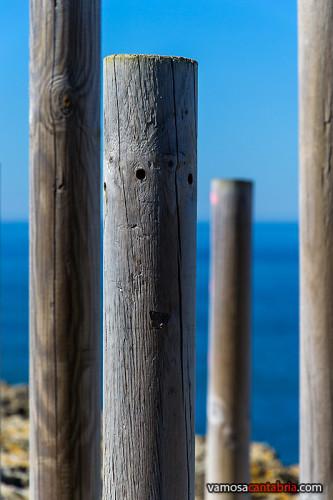 Un poste con ojos