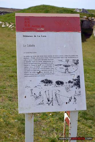 Cartel en el dolmen
