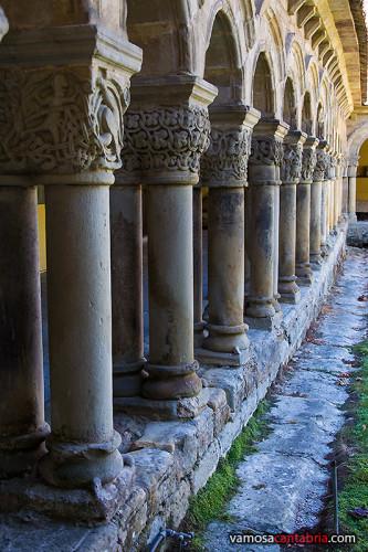 Columnas en el claustro