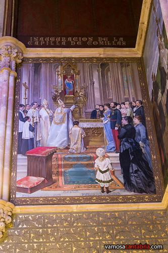 Murales en lo alto del Palacio de Sobrellano I