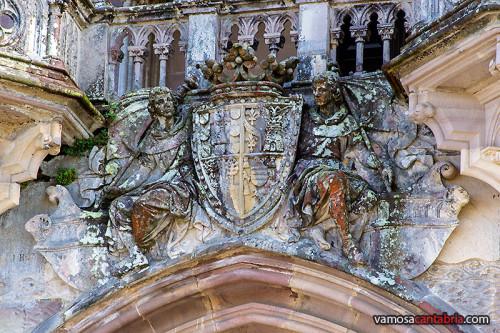 Escudo en el Palacio de Sobrellano