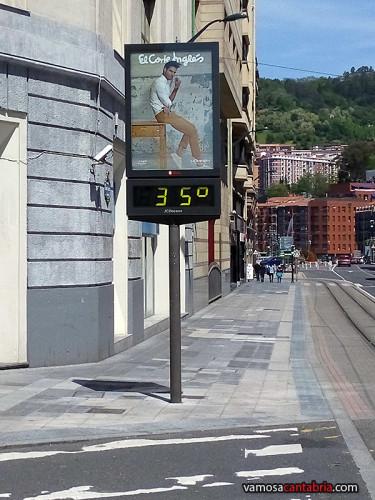 Treinta y cinco grados al sol