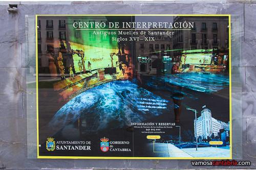 Cartel del Centro de Interpretación de los Muelles