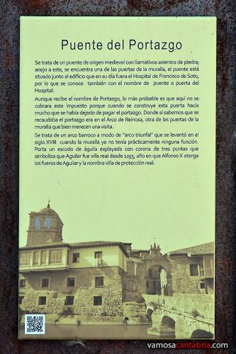 Cartel en el Puente del Portazgo