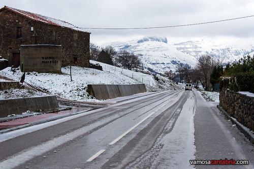 Montañas de Liérganes nevadas
