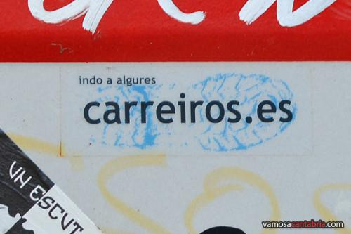Pegatina de carreiros.es