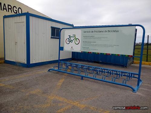 Préstamo de bicicletas junto al aeropuerto