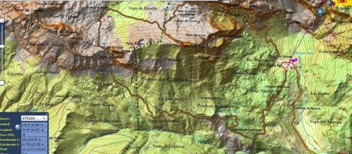 Mapa de la ruta a Liordes