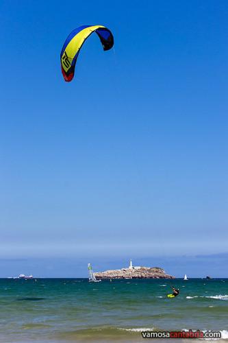 Kitesurfer en Somo I