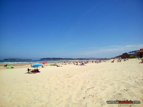 Playa de Somo hace unos días