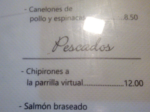 Chipirones a la parrilla virtual