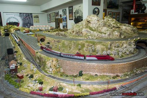 Maqueta de tren en el Museo del Ferrocarril II