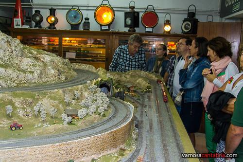 Maqueta de tren en el Museo del Ferrocarril I