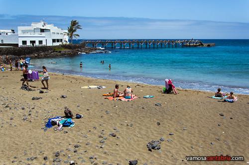 Playa y espigón