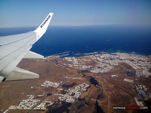 Despegando de Lanzarote