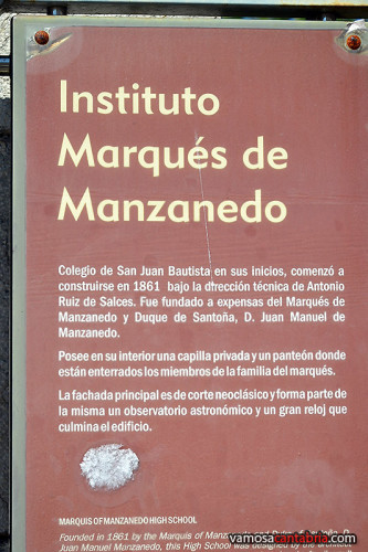Cartel del Instituto Marqués de Manzanedo