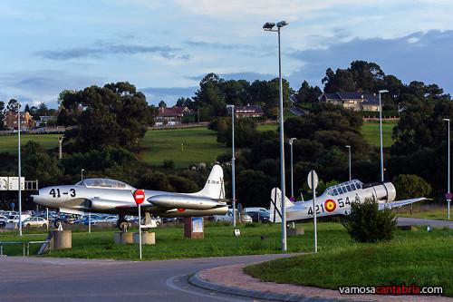 Rotonda del aeropuerto de Santander