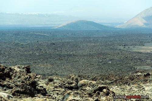 Vista de un campo de lava