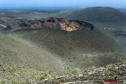 Vista de un volcán