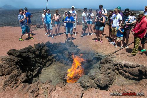 Las ramas que arden en el Timanfaya