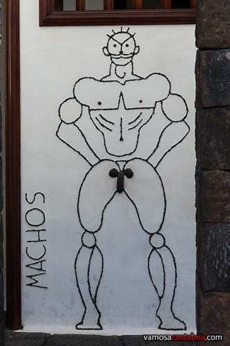 Cartel del baño masculino