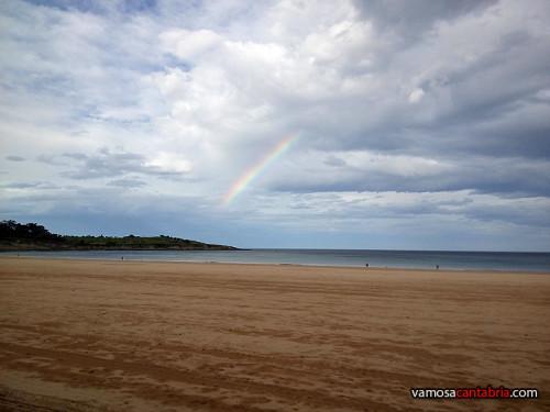 Medio arco iris en Cabo Menor I