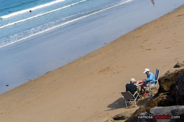 Comiendo en la playa I